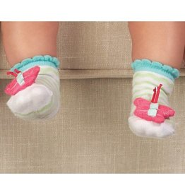 Mud Pie Butterfly Rattle Socks