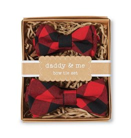 Mud Pie Buffalo Check Bow Tie Daddy and Me Set