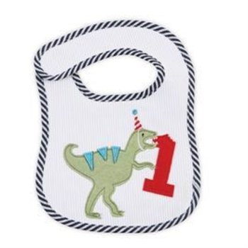 Mud Pie Dinosaur Birthday Bib