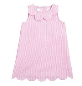 Mud Pie Pink Scalloped Seersucker Dress