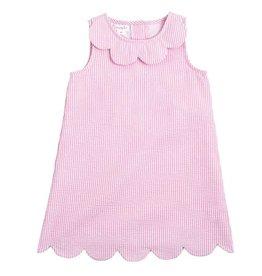Mud Pie Pink Scalloped Seersucker Dress