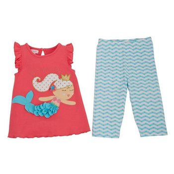 Mud Pie Mermaid Tunic Capri Set