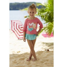 Mud Pie Mermaid Rash Guard Swim Set