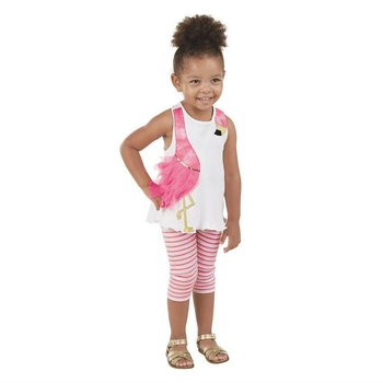 Mud Pie Flamingo Tunic and Capri Set
