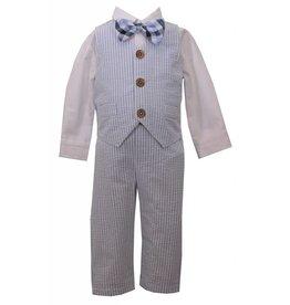 Bonnie Baby Seersucker 4 pc Suit