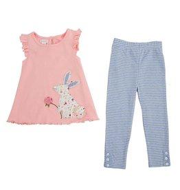 Mud Pie Bunny and Legging Tunic Set