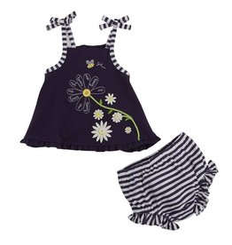 Mud Pie Daisy Sunsuit Bloomer Set