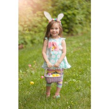 Molly & Millie Aqua Dot Bunny Tunic Set