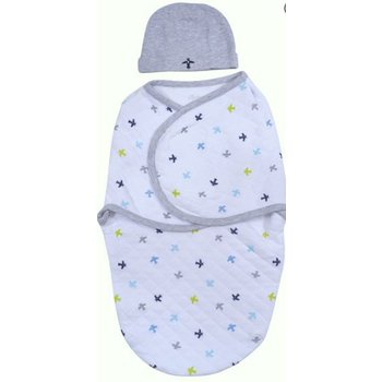 Sterling 2-Piece Swaddle Hat Gift Set Planes