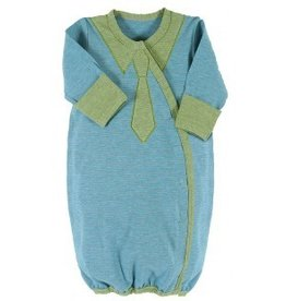 Stephan Baby Blue Stripey Gown, Newborn B