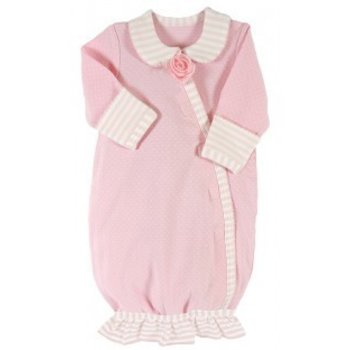 Stephan Baby Pink Stripey Gown, Preemie P