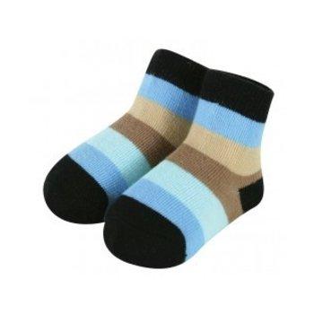 Stephan Baby Big Stripe Blue Dog Sock