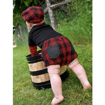Rugged Butts Red Buffalo Plaid Bloomer