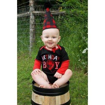 Rugged Butts Black 1st Birthday Bodysuit