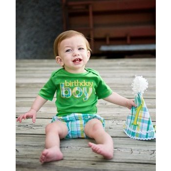 Rugged Butts Green Birthday Boy Bodysuit