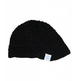 Rugged Butts Black Knit Billed Beanie