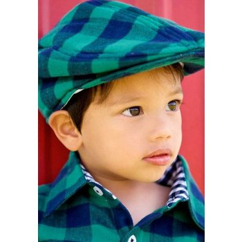 Rugged Butts Navy Buffalo Plaid Drivers Cap