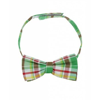 Rugged Butts Green Yellow and Red Plaid Bow Tie