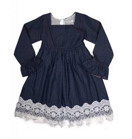Adora-Bay Denim Dress With Lace