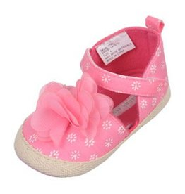 Rugged Bear Pink Espadrille Sandals