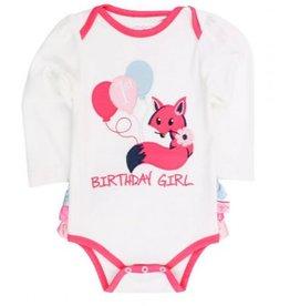 Ruffle Butts Fox Birthday Girl Body Suit