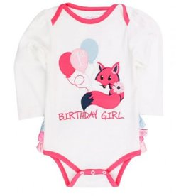 RuffleButts Fox Birthday Girl Body Suit