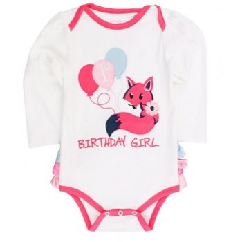 Ruffle Butts Fox Birthday Girl Body Suit