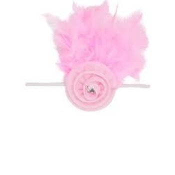 Ruffle Butts Pink Vintage Thin Elastic HeadBand