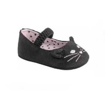 Baby Deer Black Kitty Shoes