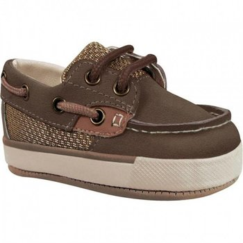Baby Deer Brown & Tan Boat Shoes