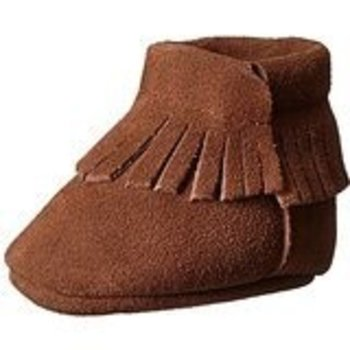 Baby Deer Brown Faux Suede Moccasin