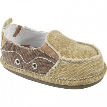 Baby Deer Tan and Brown Canvas Slip On