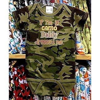 Rockin AB If Im In Camo Daddy Dressed Me Onesie