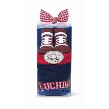 Beartington Baby Collection Football Diaper Cover & Socks