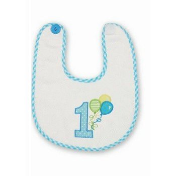 Beartington Baby Collection Happy Birthday Baby Boy Blue Bib