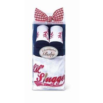 Beartington Baby Collection Lil Slugger Diaper Cover /Socks Set