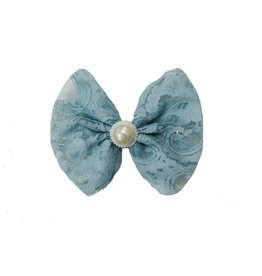 Reflectionz Antique Blue Lace & Pearl Bow