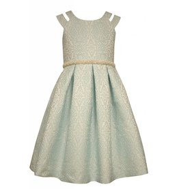 Bonnie Baby Aqua Textured Formal Dress
