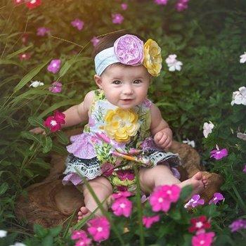 Haute Baby Kaylee's Bouquet Sunsuit