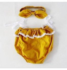 Mustard Bubble Suit and Matching Headband