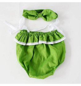 Green Bubble Suit and Matching Headband