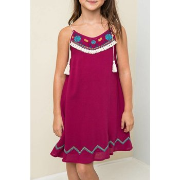 Hayden Berry Embroidered Tank Dress