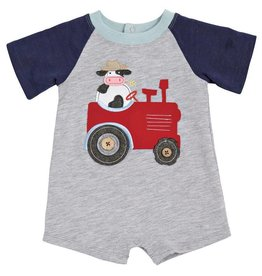 Mud Pie Tractor Raglan Shortall
