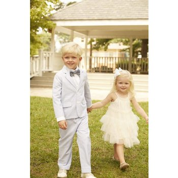 Mud Pie Ivory Ruffle Dress