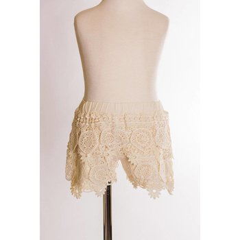 MLKids Cream  Lace Shorts