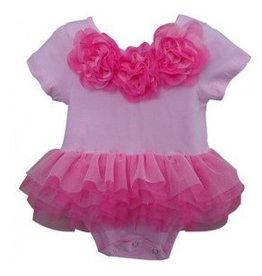 Popatu Pink Flower Onesie