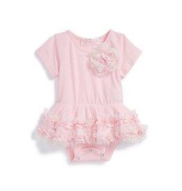 Popatu Light Pink Onesie with Tutu Skirt & Cap Sleeve