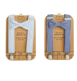 Mud Pie Bow Tie & Suspender Set