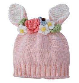 Mud Pie Pink Knit Bunny Hat