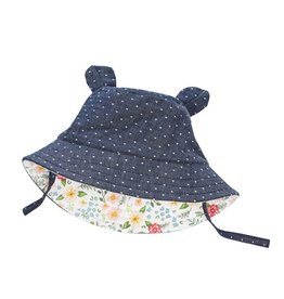 Mud Pie Chambray Bear Sun Hat